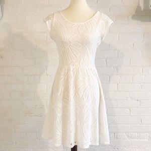 Anthropologie Deletta Flirty White Lace Dress